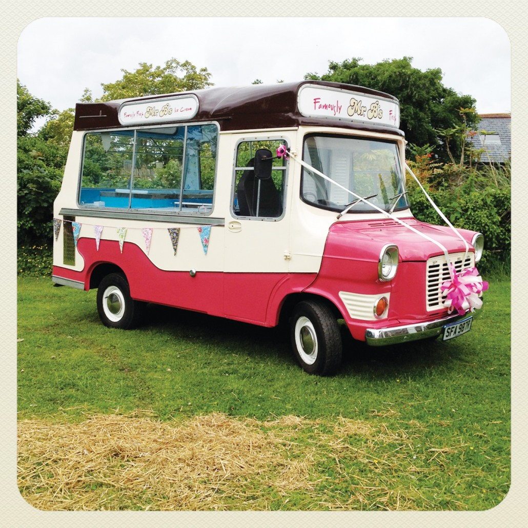 vintage ice cream van hire for weddings and events